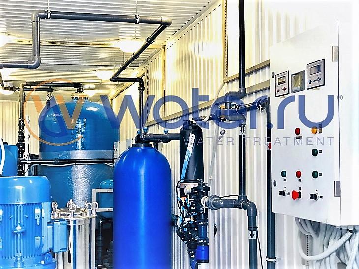 комплексная система водоподготовки, размещенная в блок-контейнере